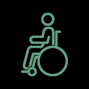 Adatto a persone disabili